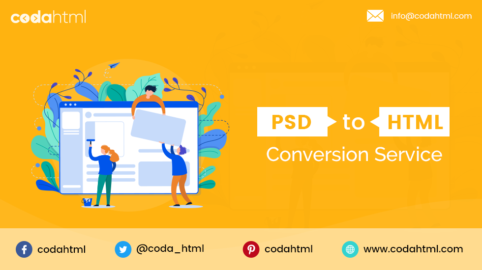 psd to html conversation service